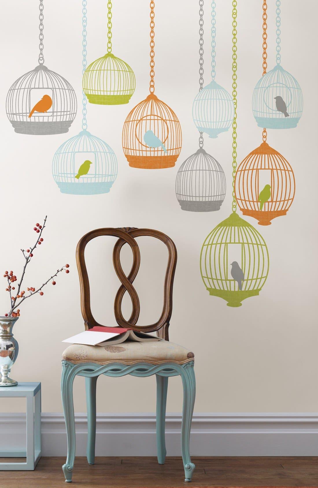 Alternate Image 1 Selected - Wallpops Birdcage Wall Art