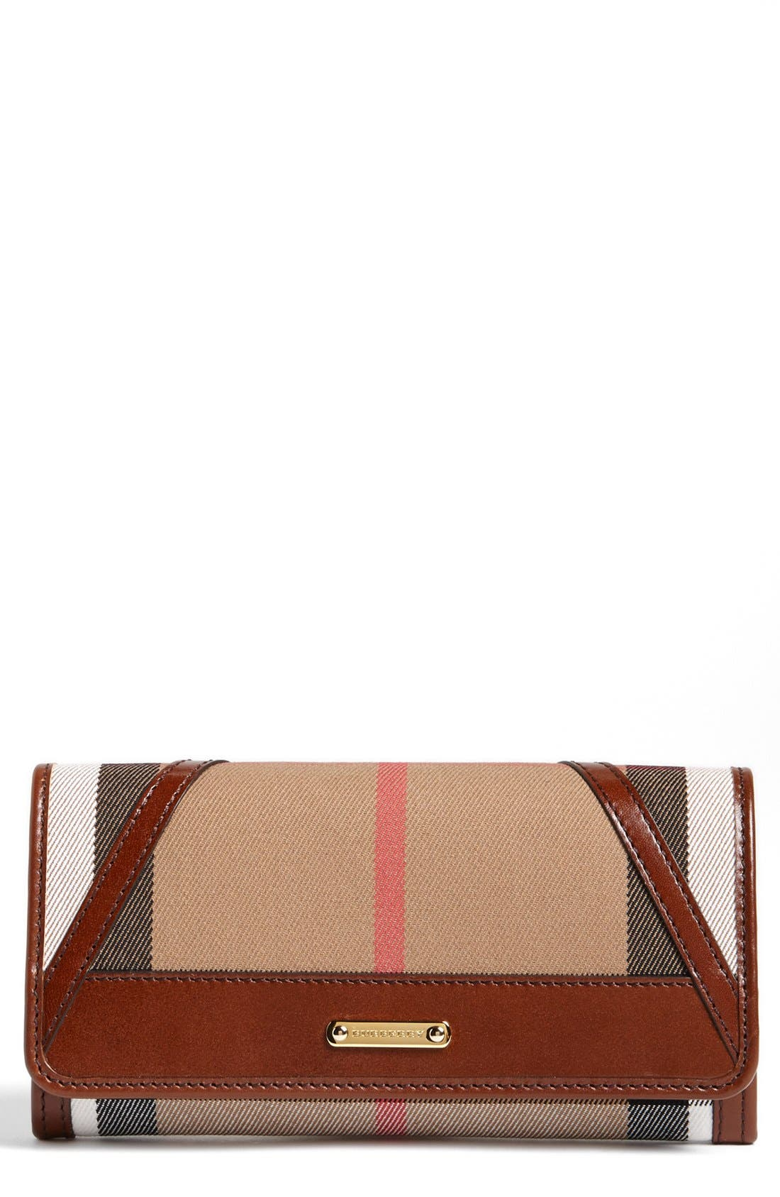 Main Image - Burberry 'Penrose' Checkbook Wallet