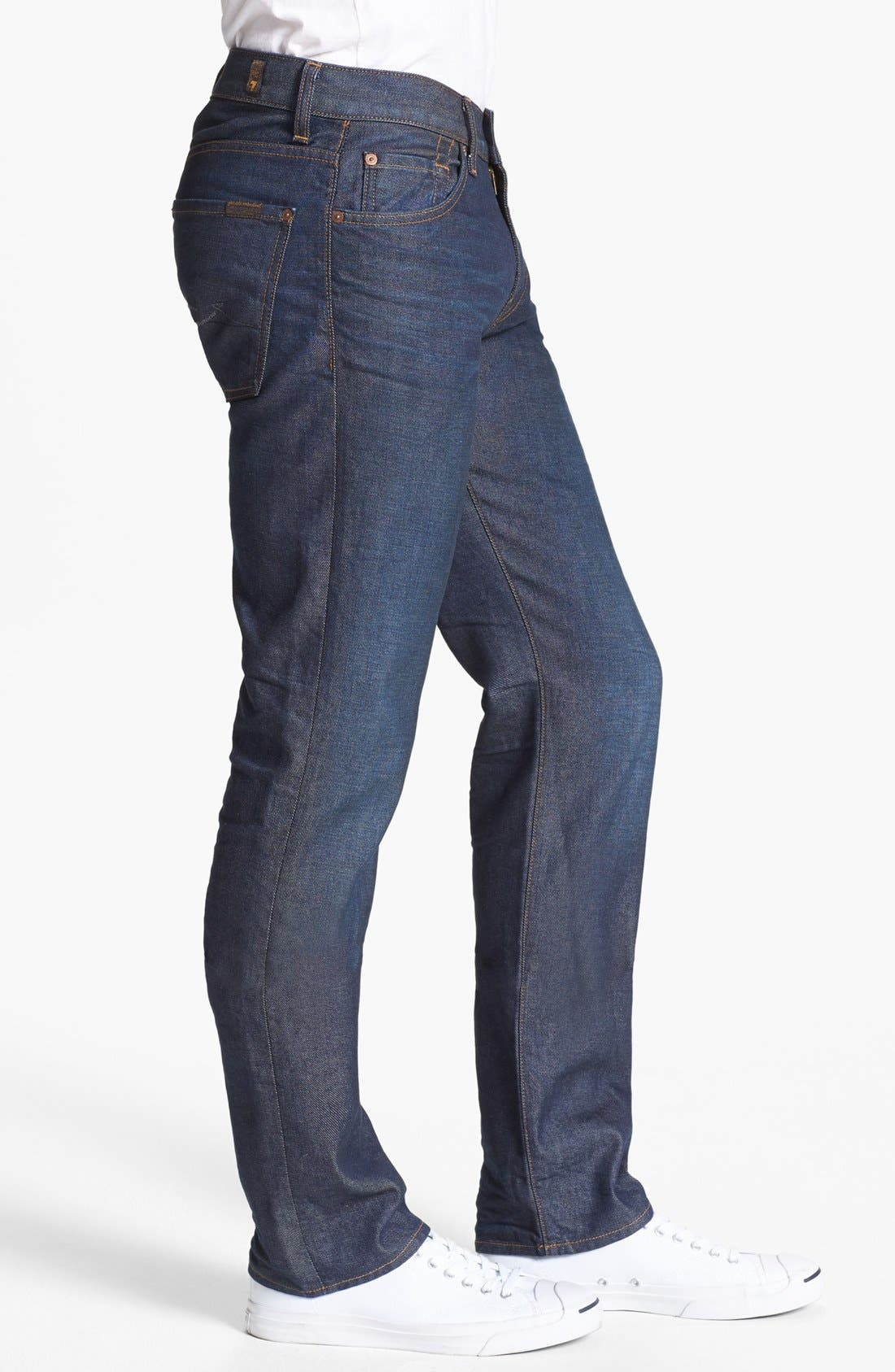 Alternate Image 3  - 7 For All Mankind® 'Slimmy' Slim Fit Jeans (Copper River)