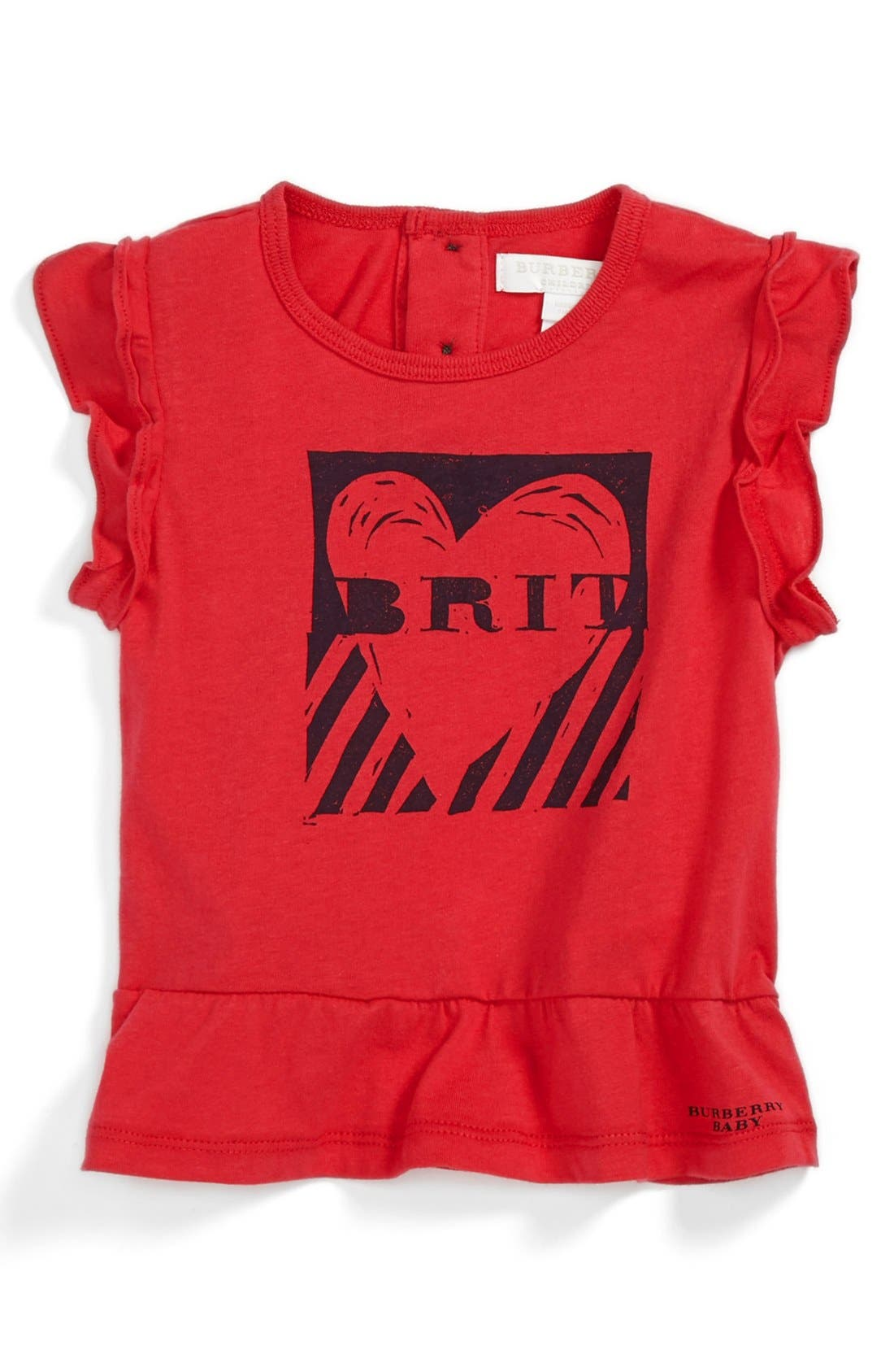 Alternate Image 1 Selected - Burberry Tee (Baby Girls)