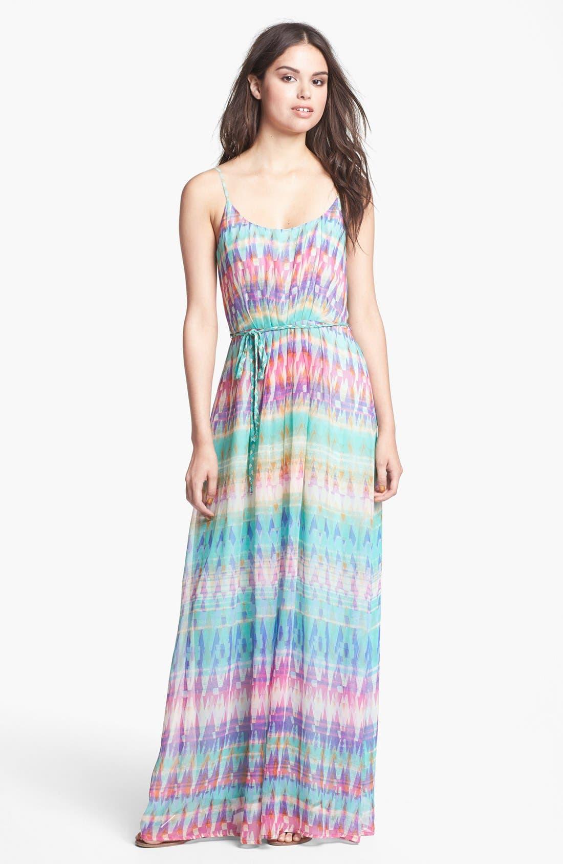 Main Image - Presley Skye Print Silk Maxi Dress