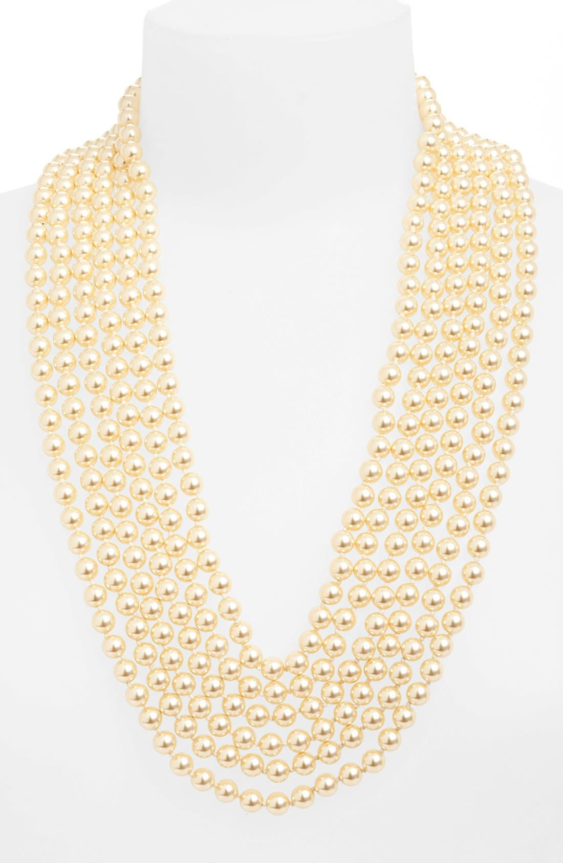 Alternate Image 1 Selected - St. John Collection Multi Strand Glass Pearl Necklace