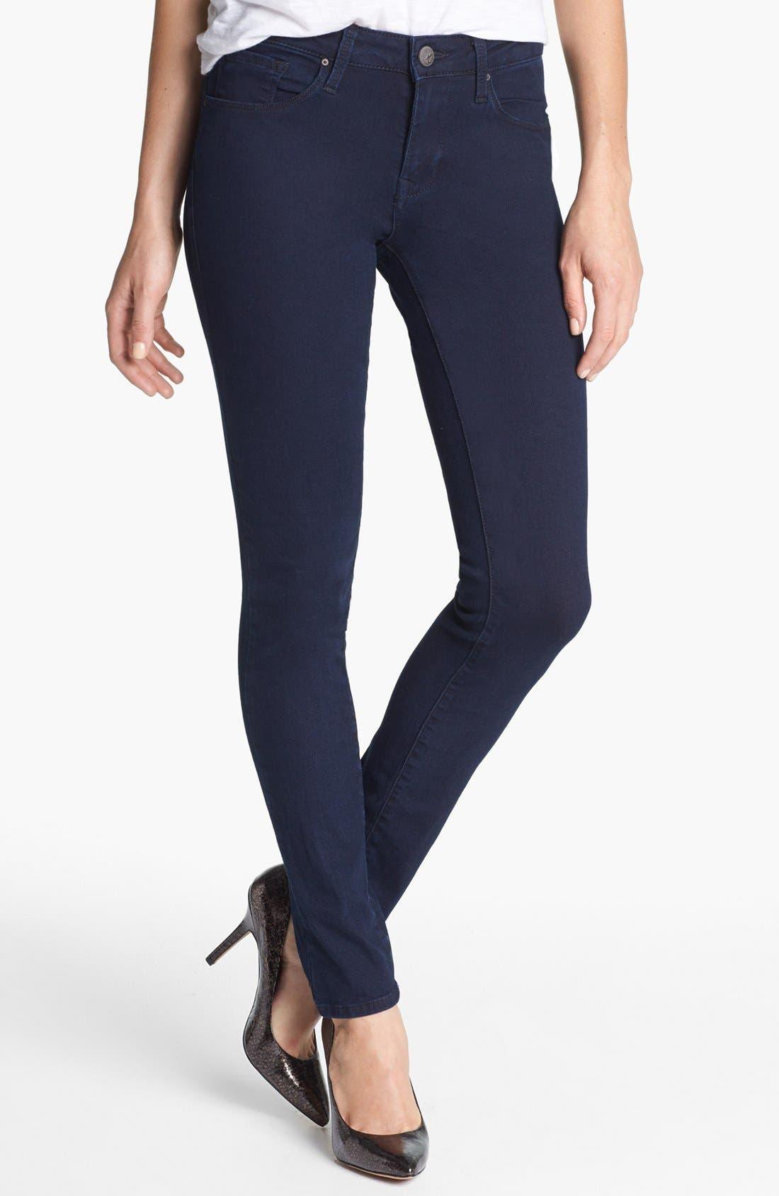 Alternate Image 1  - Mavi Jeans 'Alexa' Midrise Skinny Jeans (Dark Shanty)