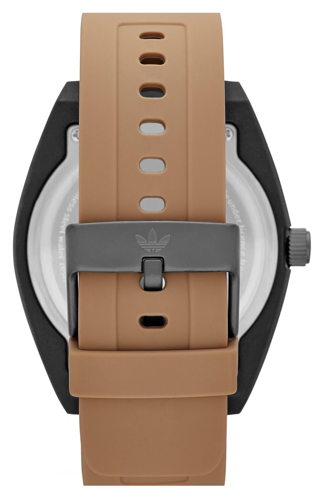 Alternate Image 2  - adidas Originals 'Santiago XL - Special Edition' Silicone Strap Watch, 50mm