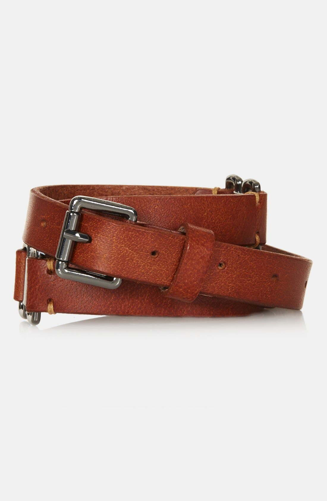 Alternate Image 1 Selected - Topshop Leather Belt