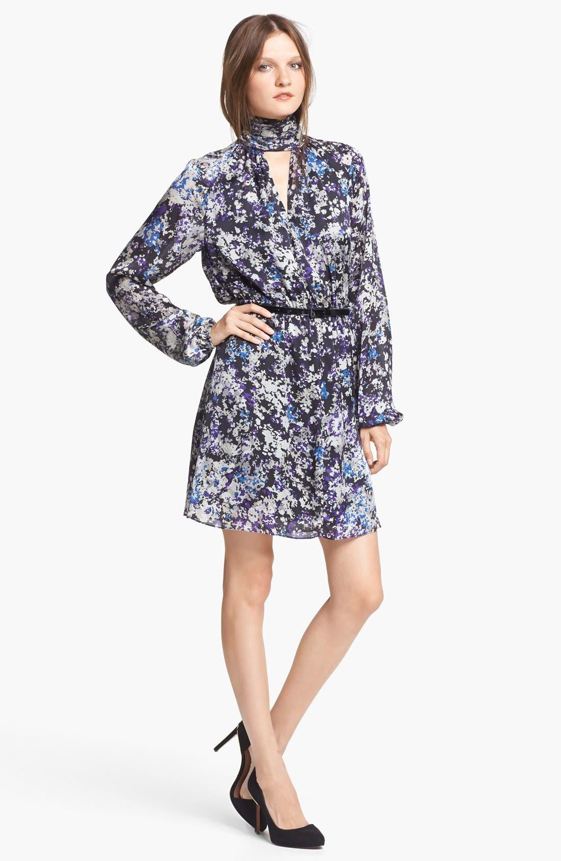 Alternate Image 1 Selected - Rachel Zoe 'Maldives' Print Satin Blouson Dress