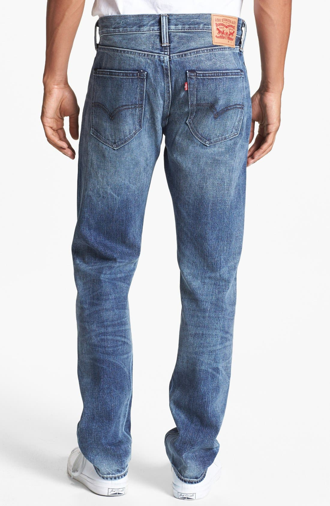 Main Image - Levi's® '508™' Skinny Fit Jeans (Splattered)