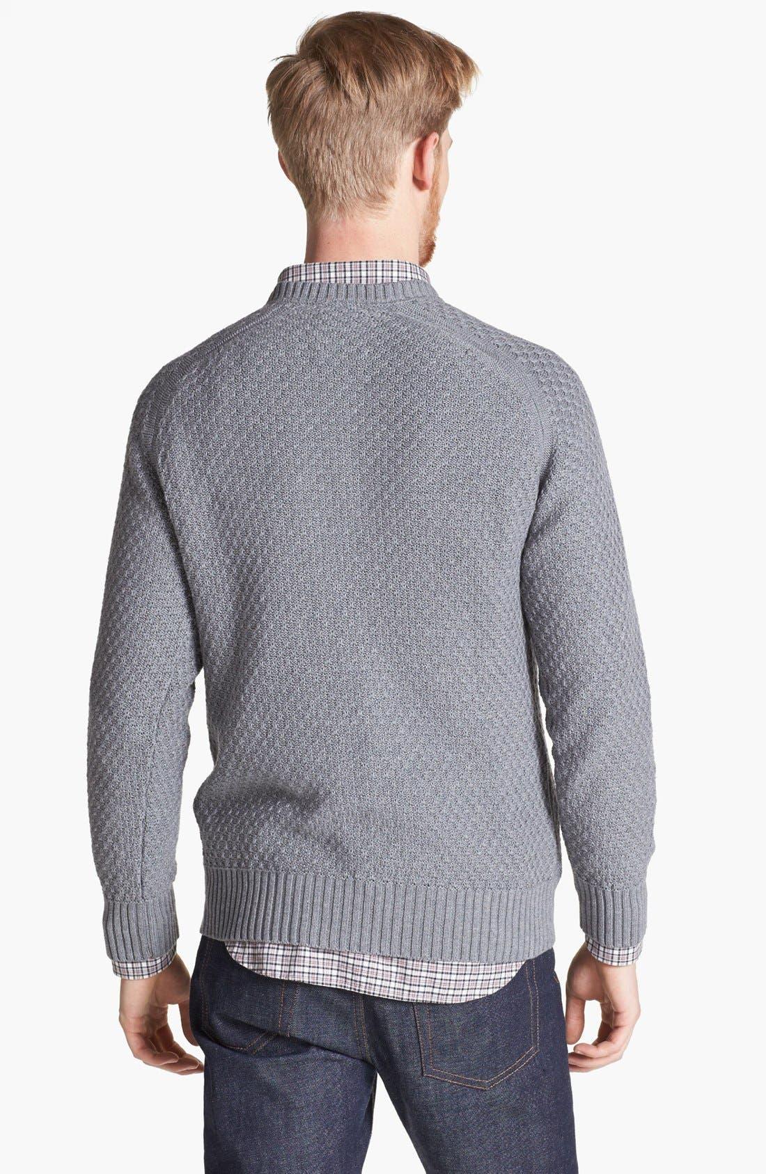 Alternate Image 2  - Billy Reid Honeycomb Knit Crewneck Sweater