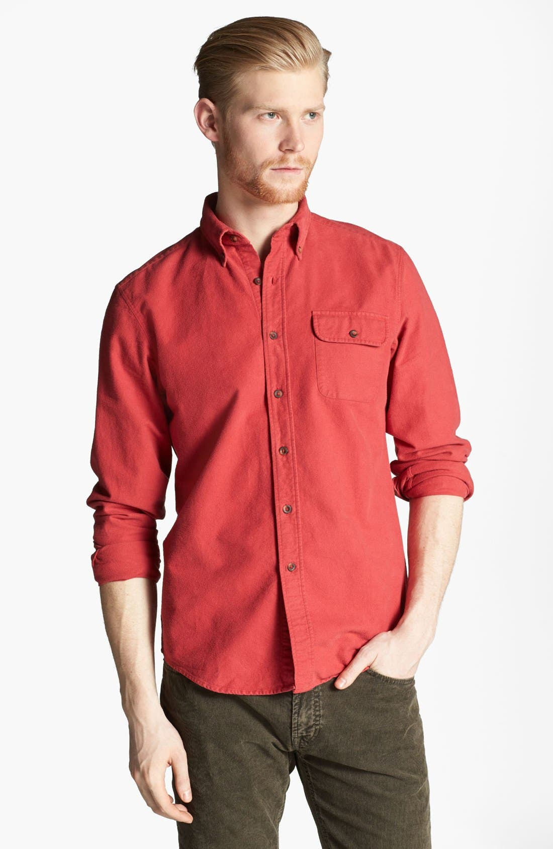Alternate Image 1 Selected - Gant by Michael Bastian Brushed Cotton Sport Shirt