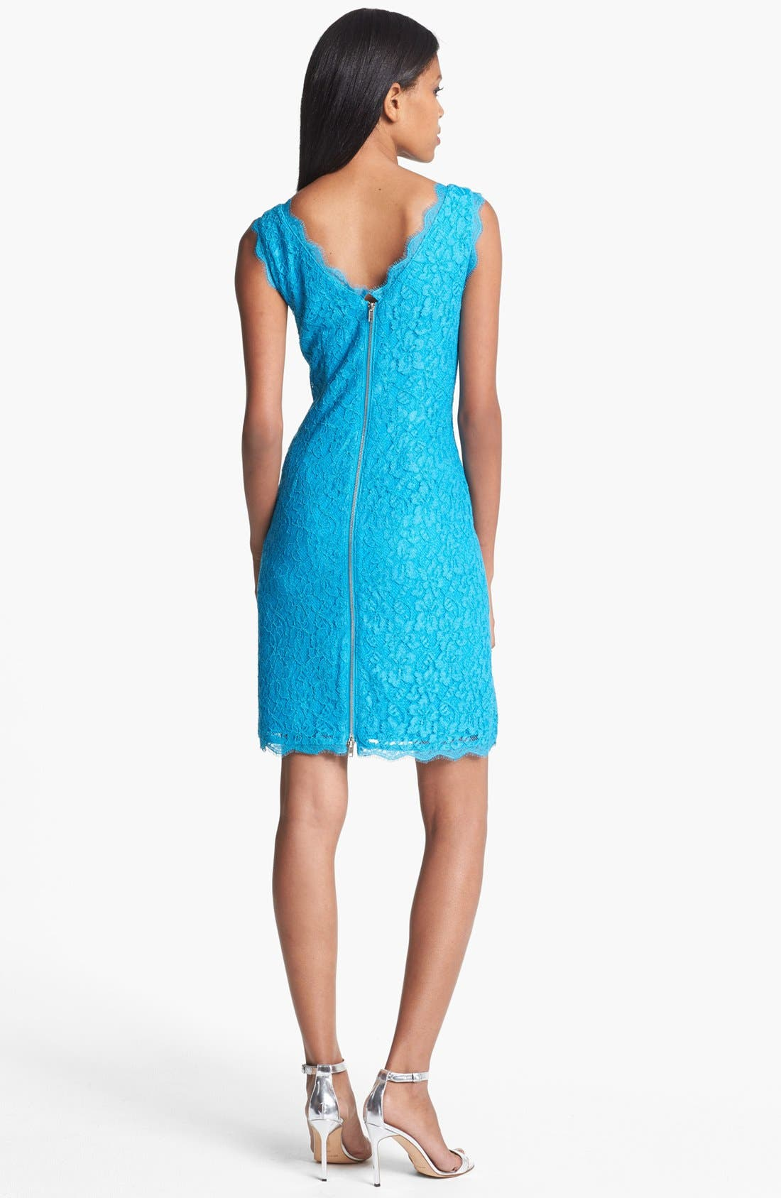 Alternate Image 2  - Adrianna Papell Lace Sheath Dress