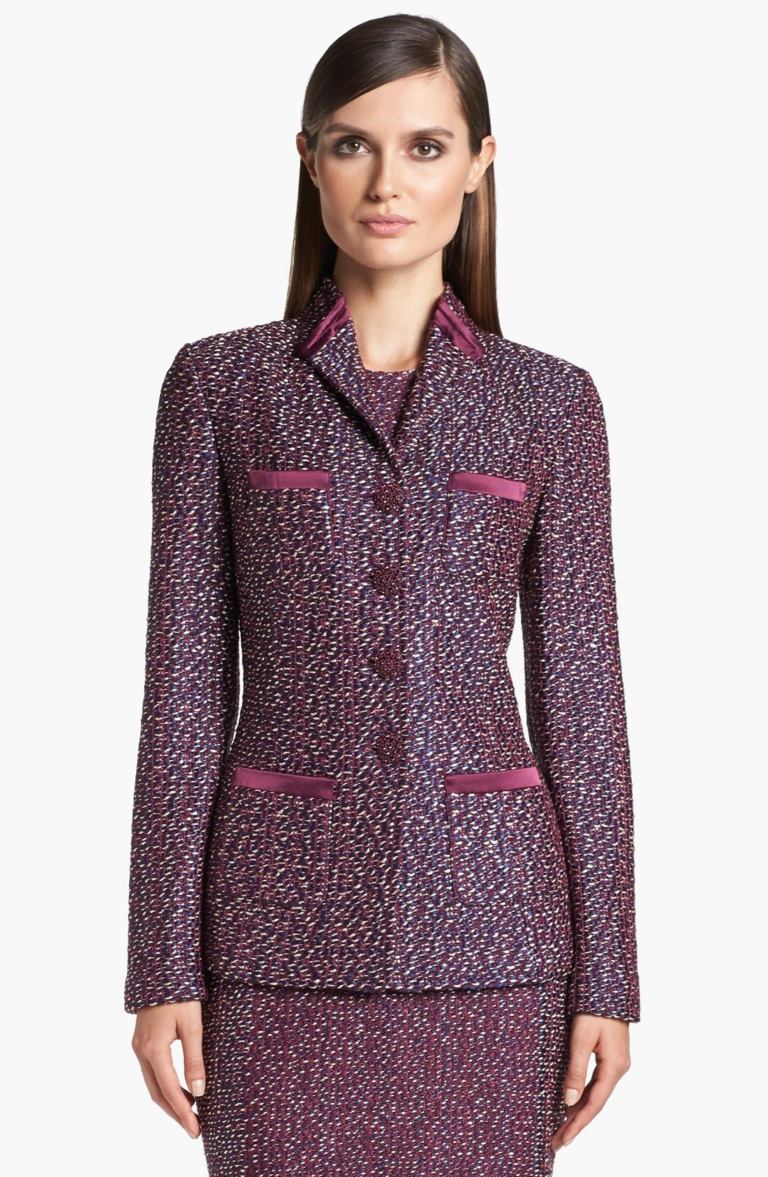 Alternate Image 1 Selected - St. John Collection Dash Tweed Knit Jacket