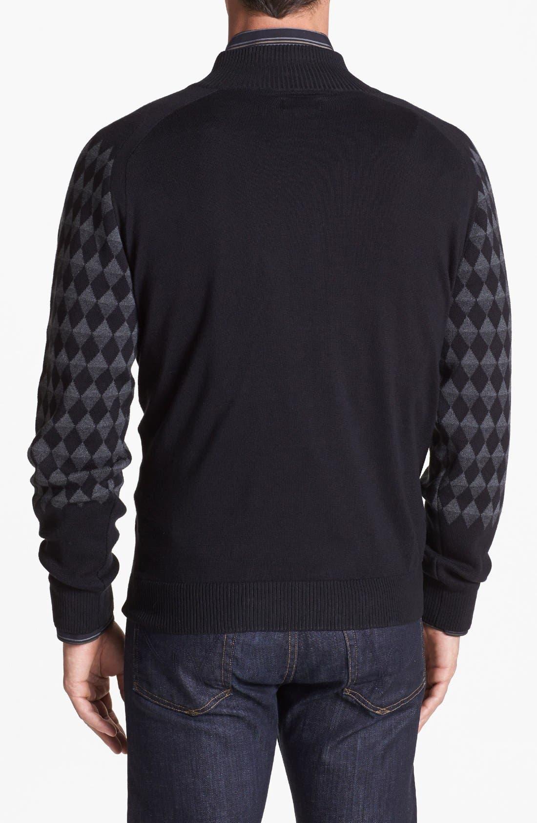 Alternate Image 2  - Cutter & Buck 'Cameo Diamond' Half Zip Sweater