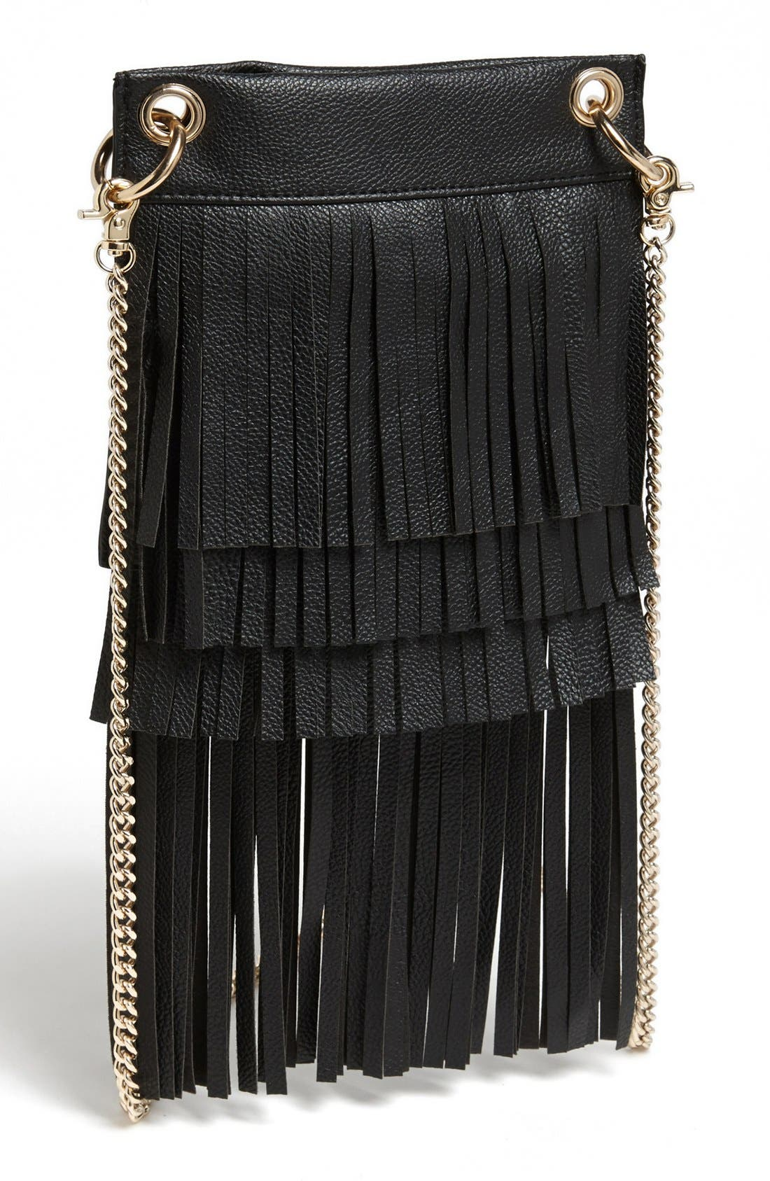 Main Image - BP. Layered Fringe Crossbody Bag (Juniors)