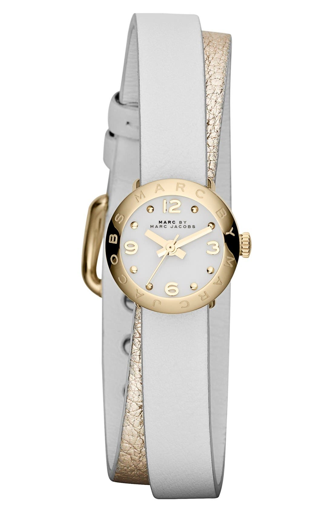 Alternate Image 1 Selected - MARC JACOBS 'Amy Dinky' Double Wrap Strap Watch, 21mm