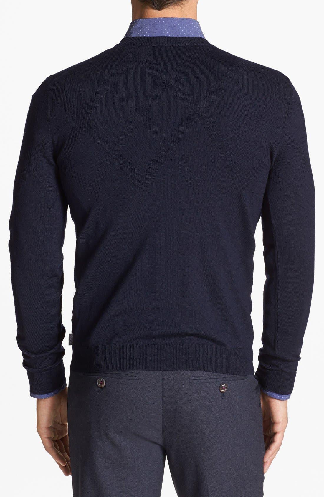 Alternate Image 2  - BOSS HUGO BOSS 'Miles' Merino Wool Sweater