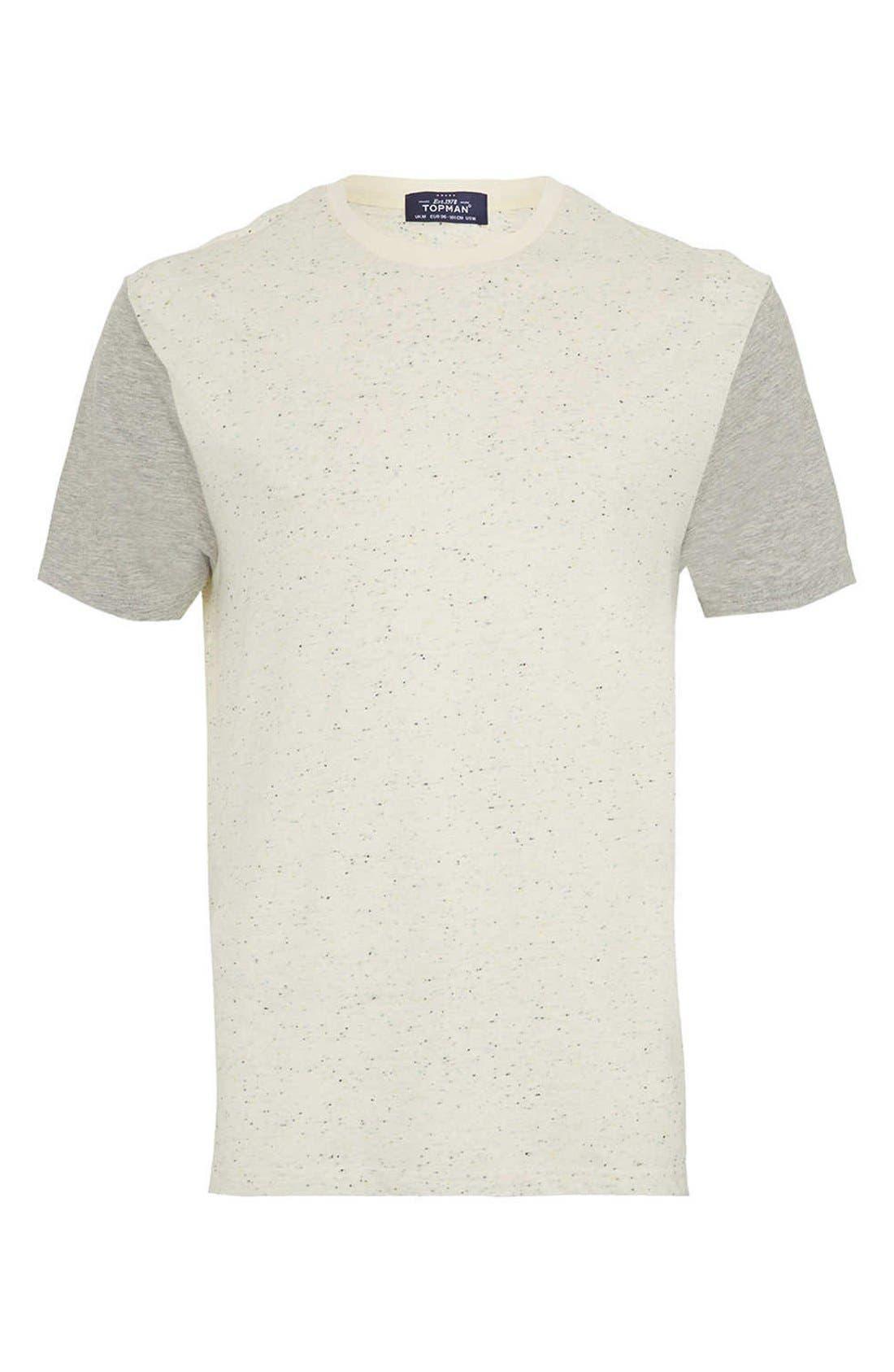 Main Image - Topman Nep Contrast T-Shirt