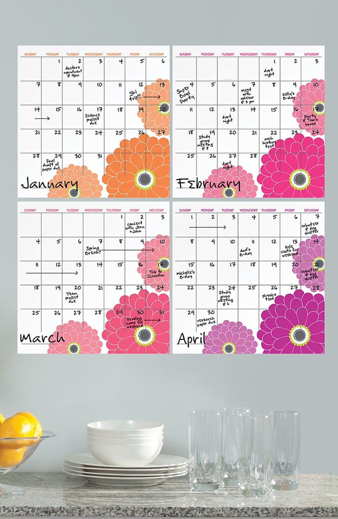 Main Image - Wallpops Dry Erase Zinnia Calendar