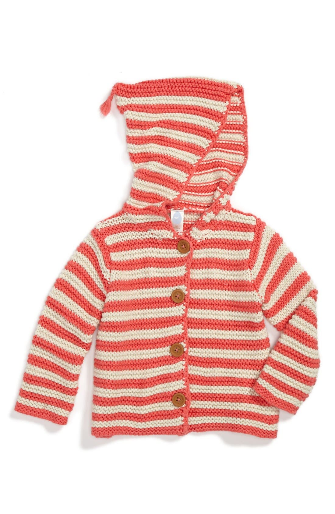 Alternate Image 1 Selected - Stem Baby Organic Cotton Hooded Cardigan (Baby Girls)