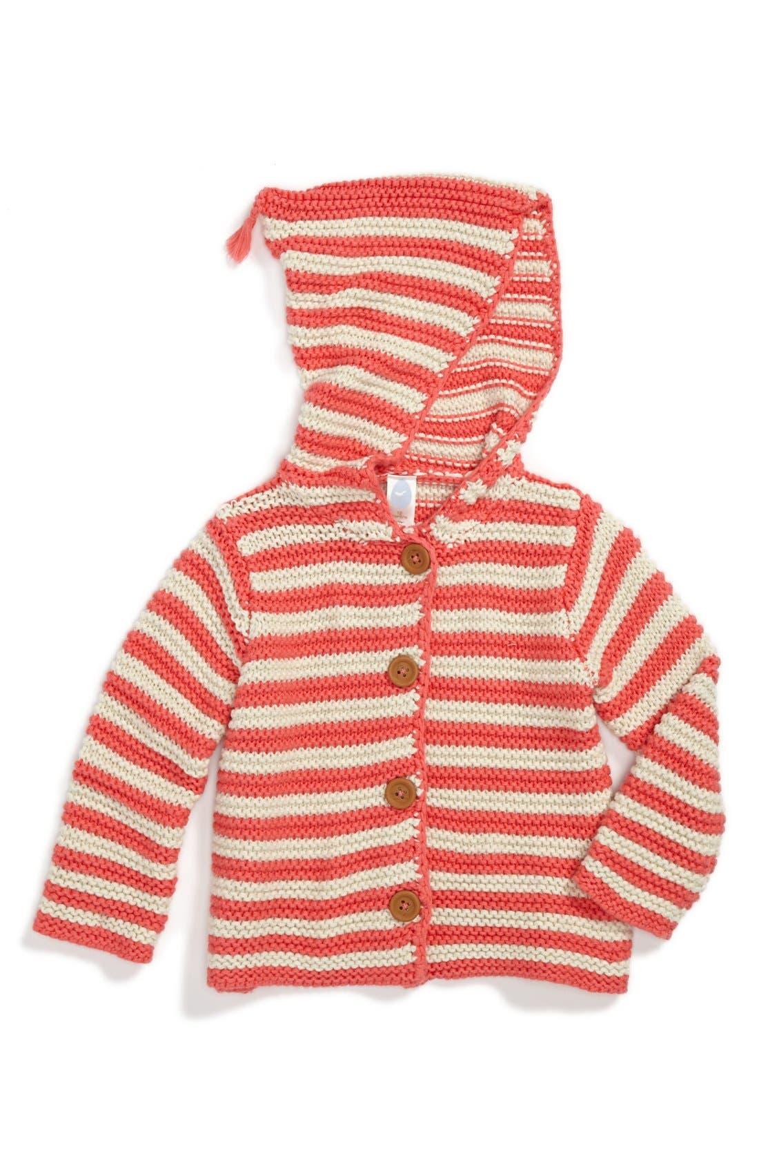 Main Image - Stem Baby Organic Cotton Hooded Cardigan (Baby Girls)