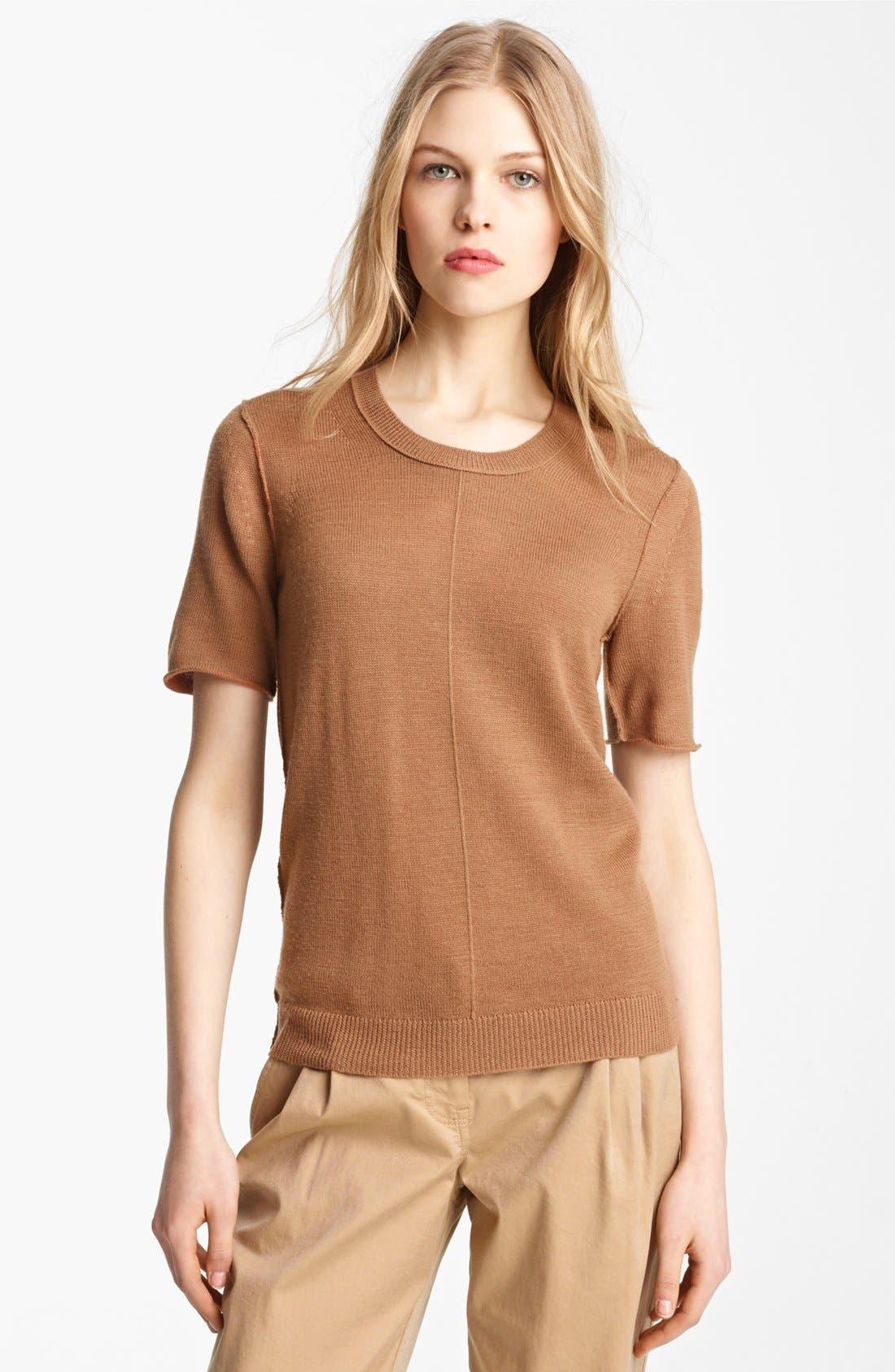 Alternate Image 4  - Burberry Brit Reversible Short Sleeve Sweater
