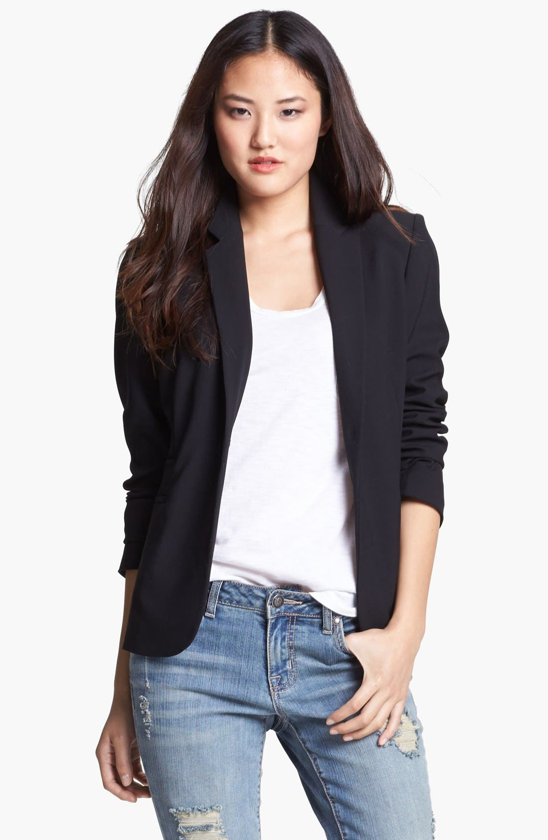 Alternate Image 2  - Vince Camuto One Button Blazer