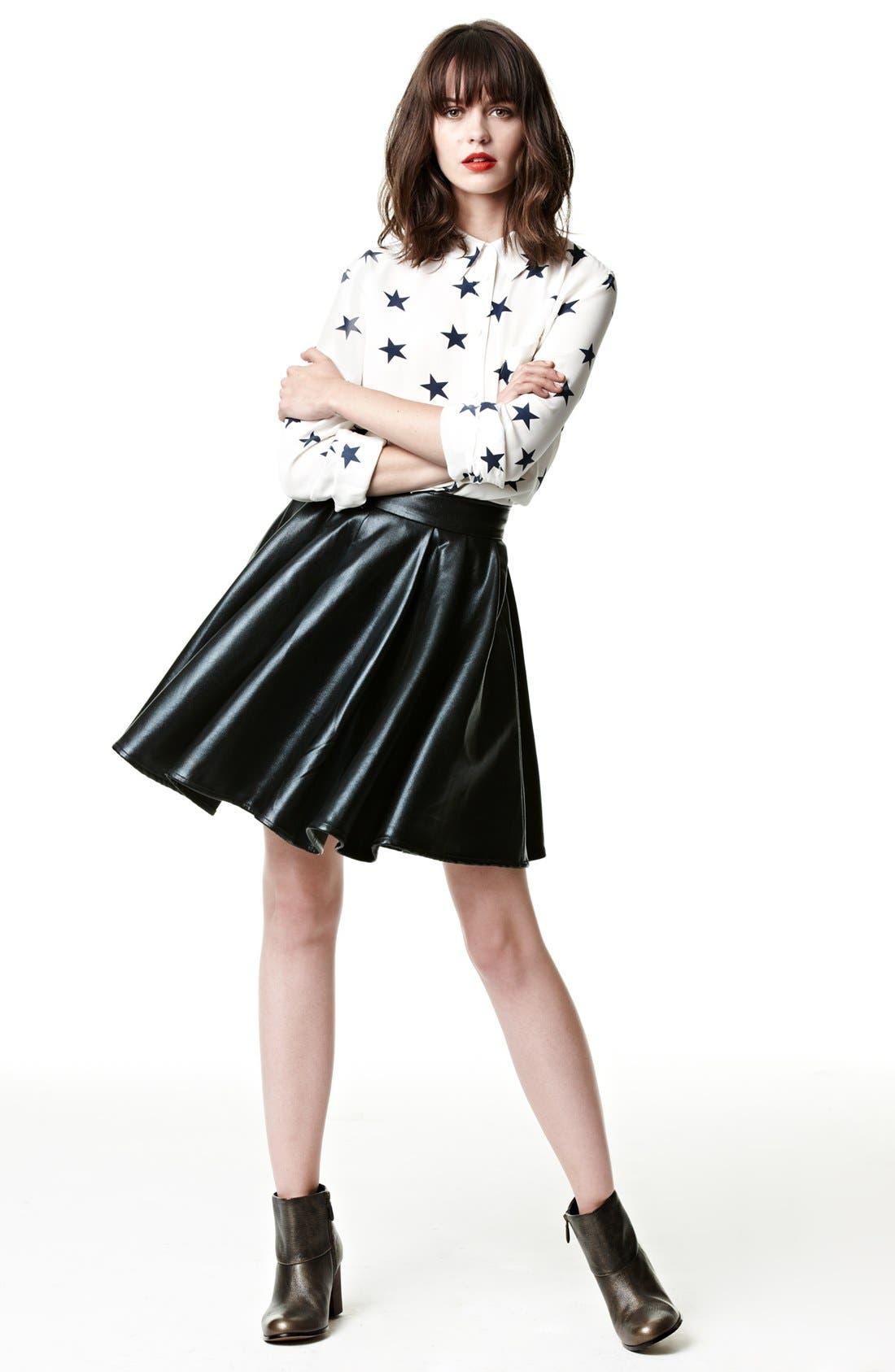 Alternate Image 5  - ELEVENPARIS 'Timac' Faux Leather Skater Skirt