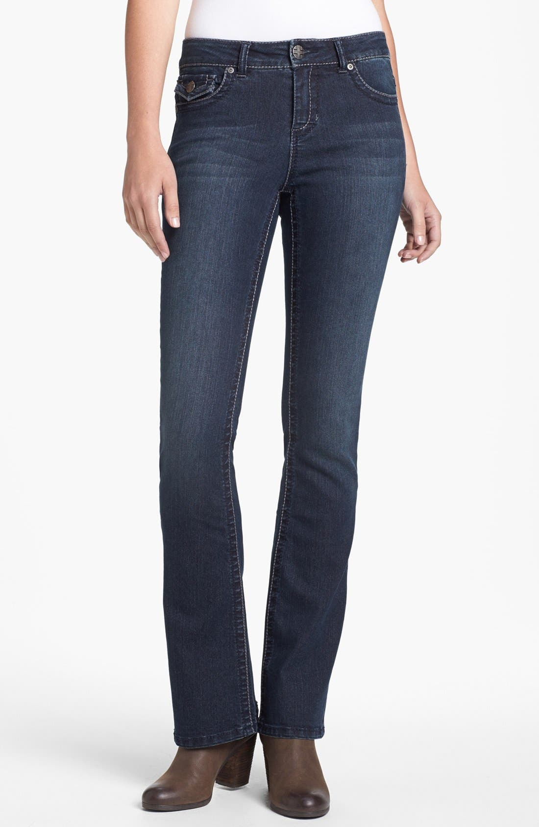 Alternate Image 1 Selected - Liverpool Jeans Company 'Rita' Flap Pocket Stretch Bootcut Jeans