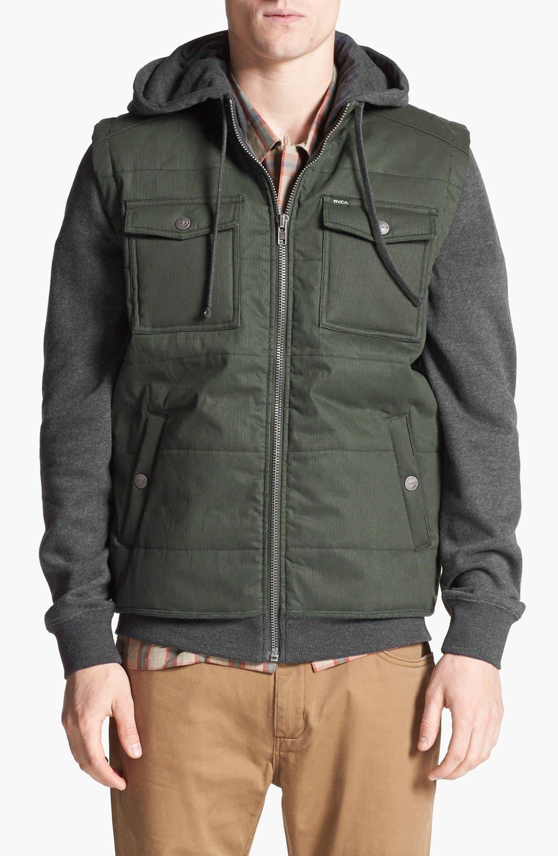 Alternate Image 1 Selected - RVCA 'Bedrod' Hooded Jacket