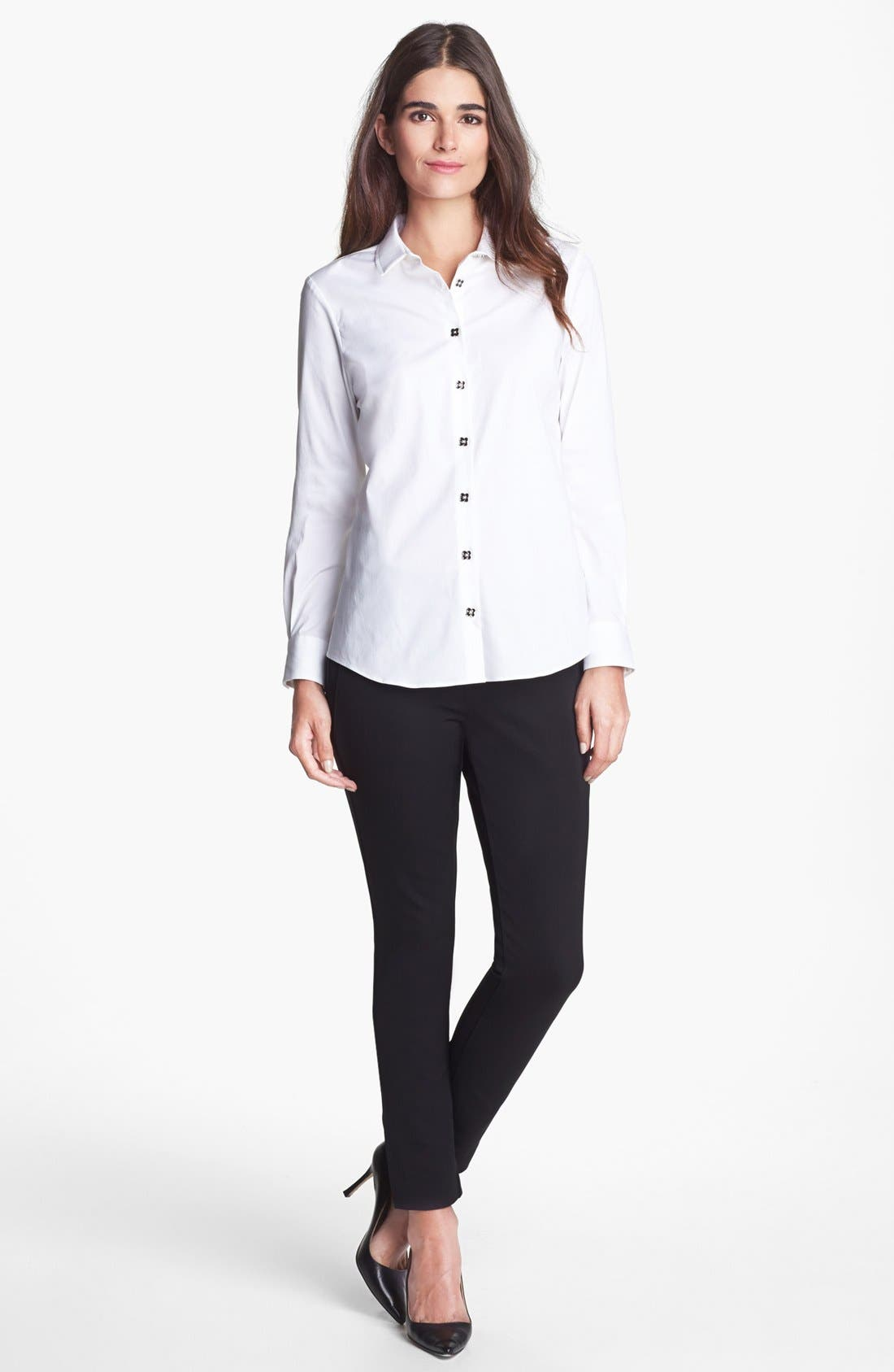 Alternate Image 3  - Pink Tartan Pleated Collar Shirt