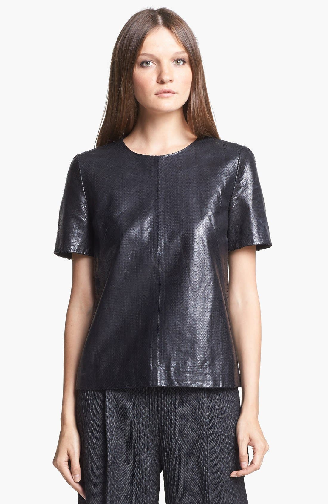 Alternate Image 1 Selected - J Brand Ready-to-Wear 'Marilena' Leather Tee
