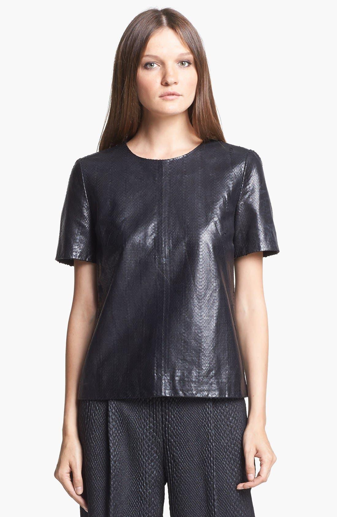 Main Image - J Brand Ready-to-Wear 'Marilena' Leather Tee