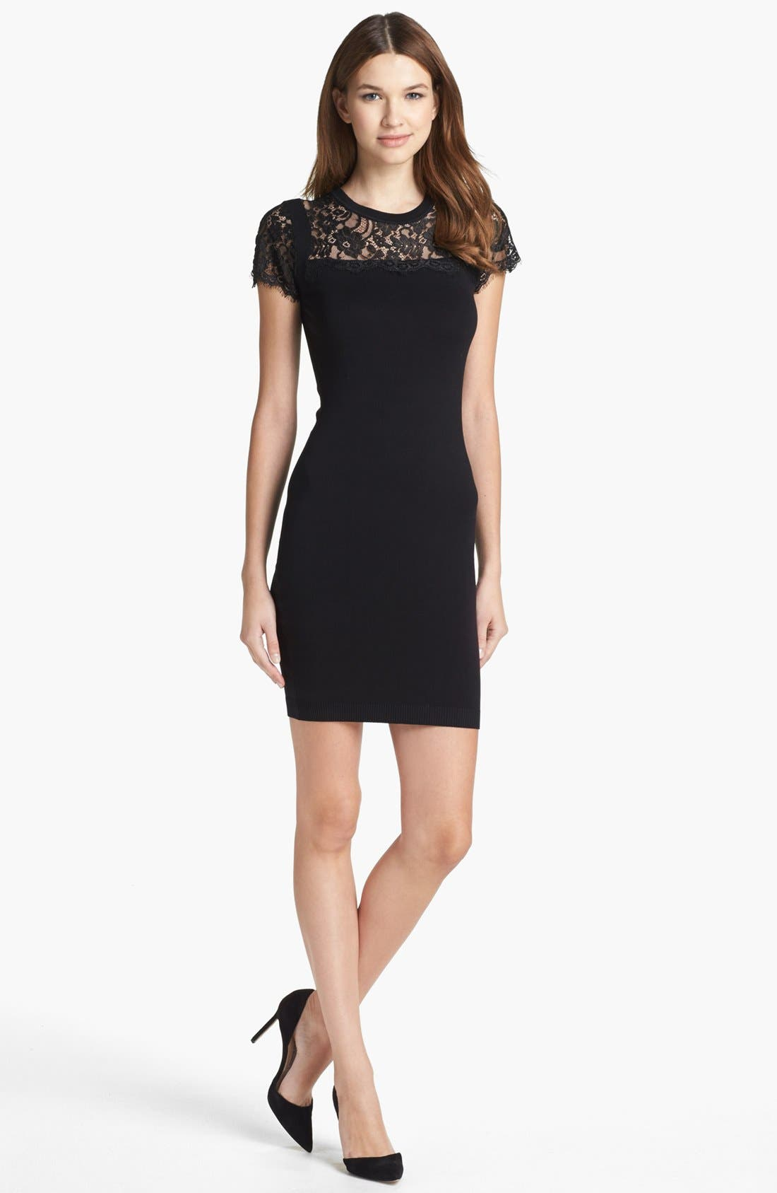 Alternate Image 1 Selected - Ted Baker London Lace Detail Dress