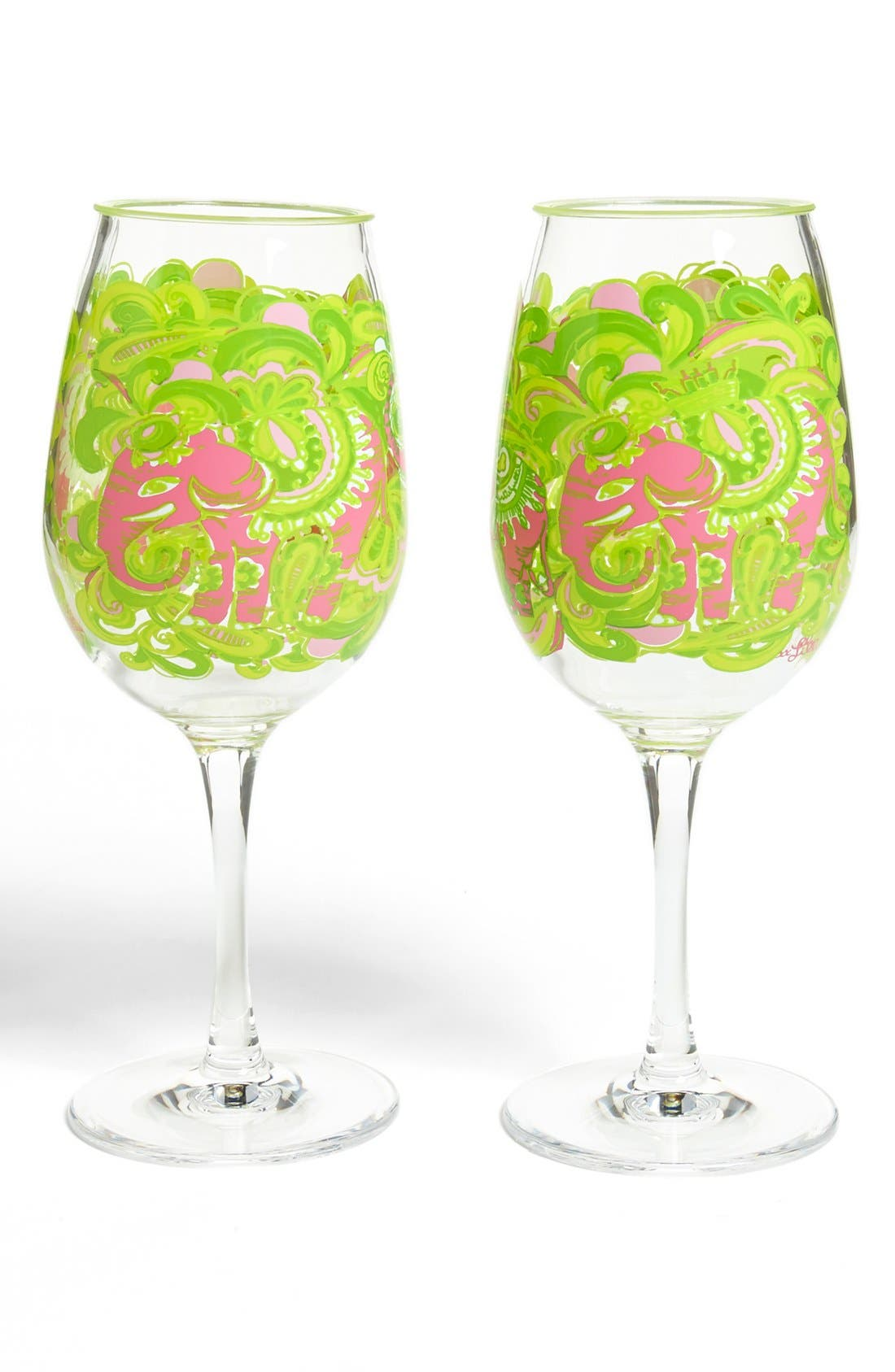 Alternate Image 1 Selected - Lilly Pulitzer® Print Acrylic Wine Glasses (Set of 2)