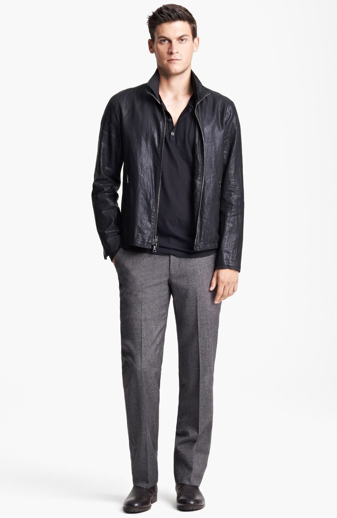 Alternate Image 4  - John Varvatos Collection Resin Coated Linen Jacket