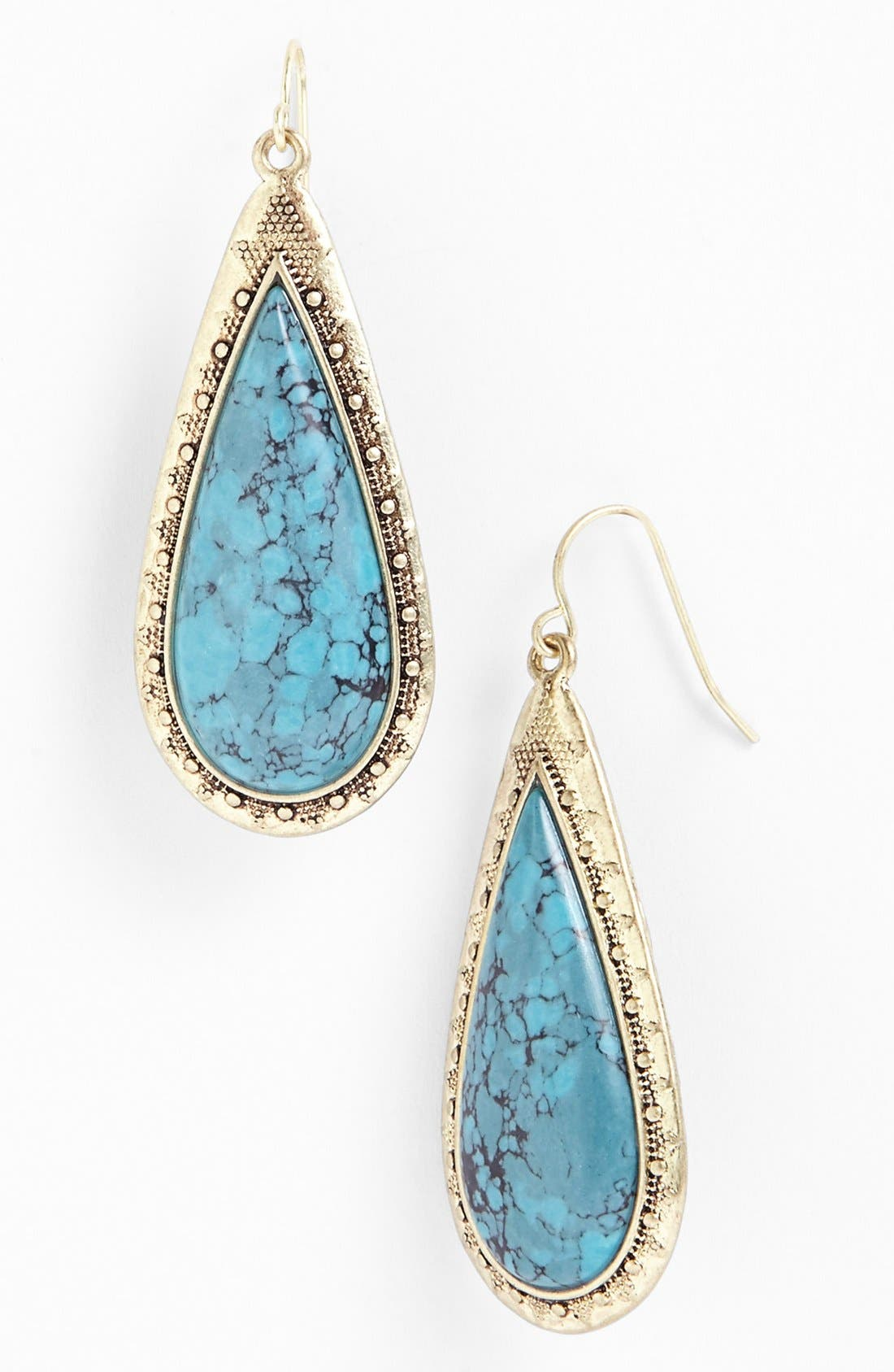 Main Image - Lauren Ralph Lauren Long Stone Cabochon Teardrop Earrings