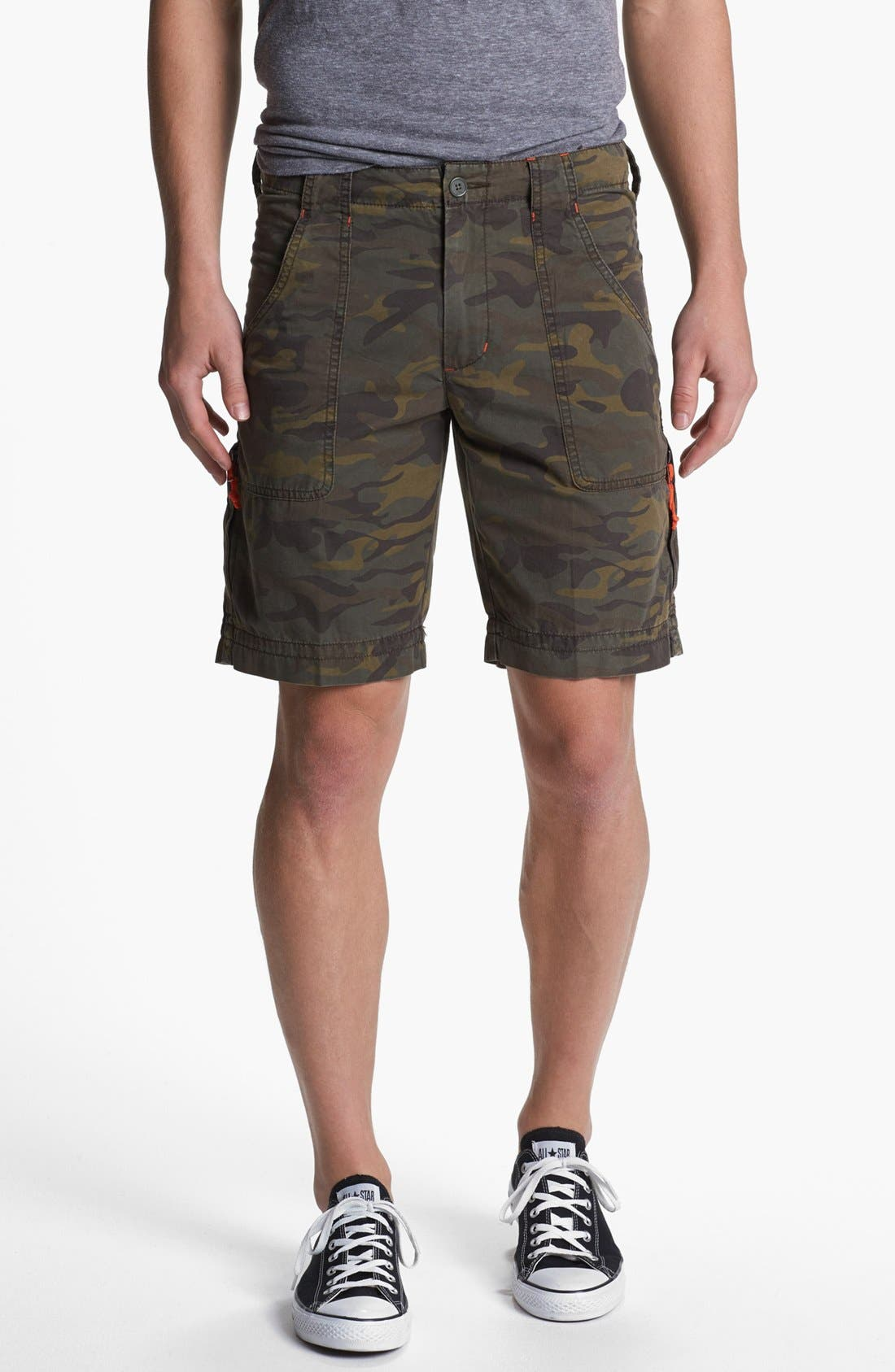 Main Image - Quiksilver 'Dust Buster' Camo Print Cargo Shorts