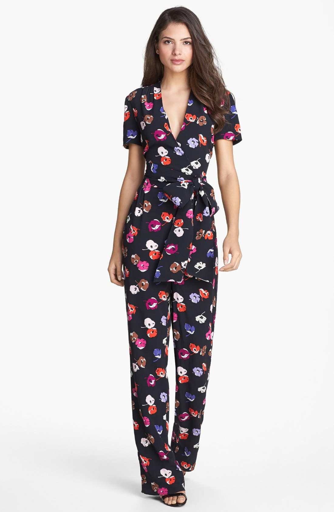 Alternate Image 1 Selected - kate spade new york 'mahlia' print jumpsuit