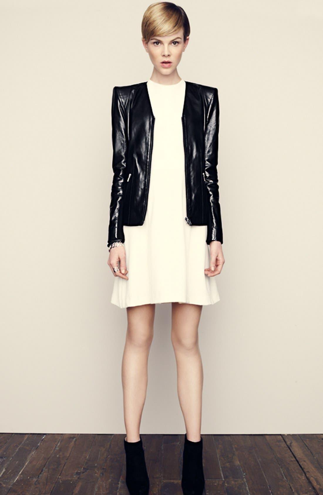 Alternate Image 6  - Trouvé Power Shoulder Leather Jacket