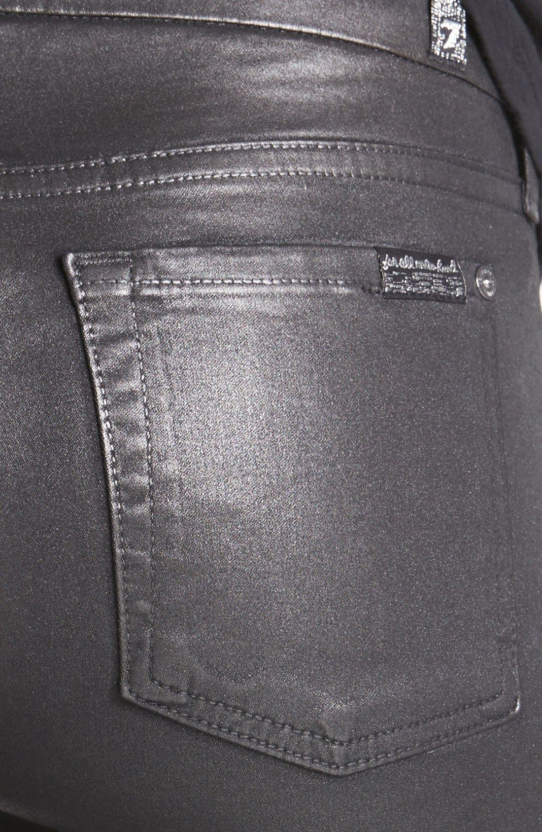 Alternate Image 3  - 7 For All Mankind® 'Higher Gloss Gummy' Skinny Jeans (Armor Grey)