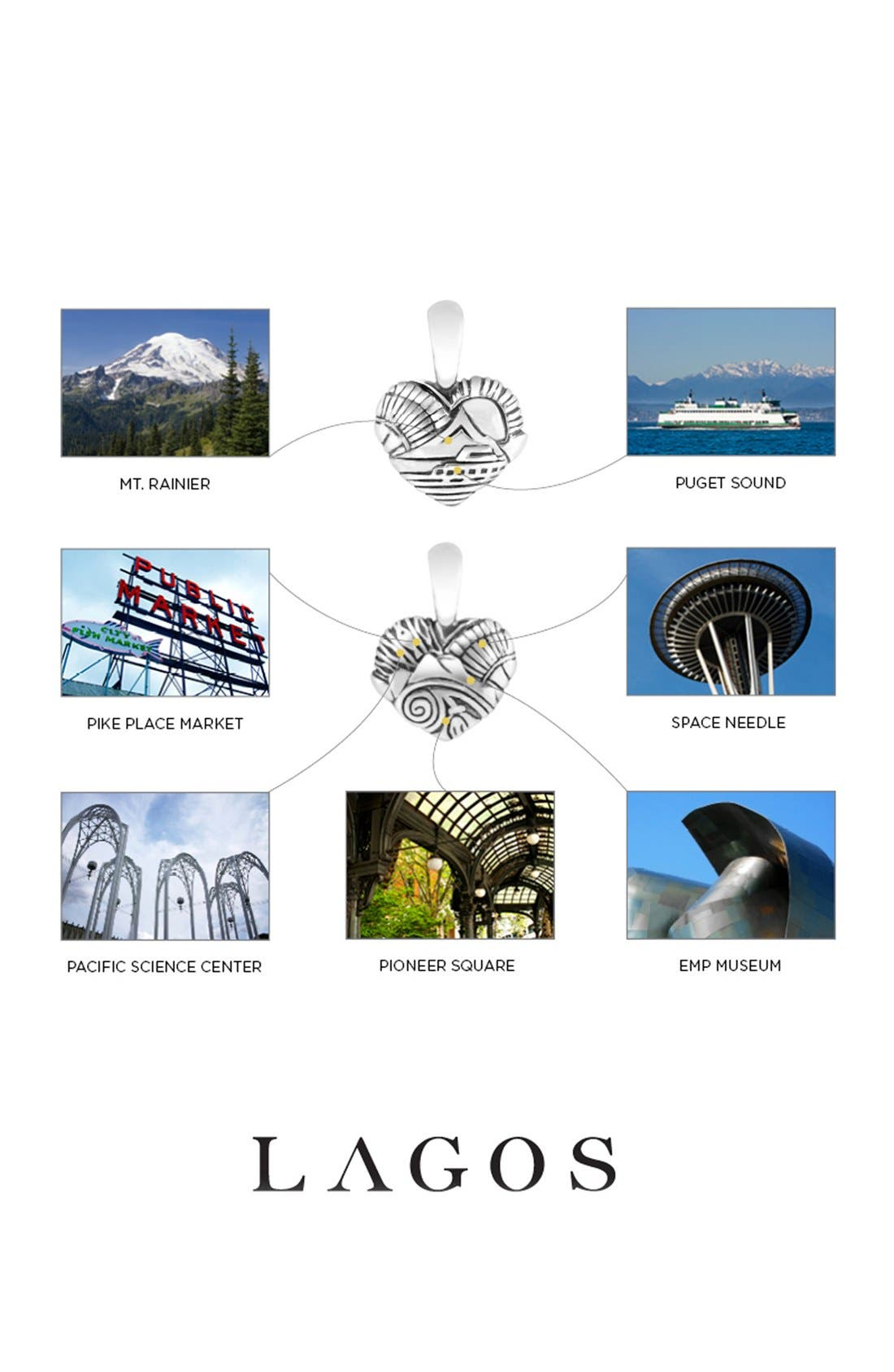 Alternate Image 2  - Lagos 'Hearts of Lagos - Seattle' Reversible Pendant Necklace