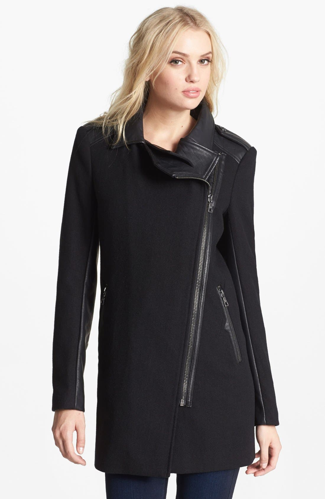 Alternate Image 4  - Sam Edelman 'Leigh' Faux Shearling Collar Coat (Online Only)