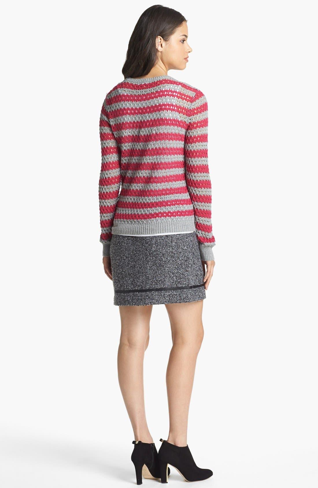 Alternate Image 3  - kensie Faux Leather Trim Tweed Skirt