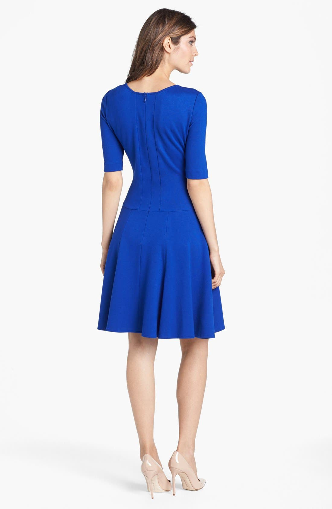 Alternate Image 2  - Eliza J Ponte Knit Fit & Flare Dress