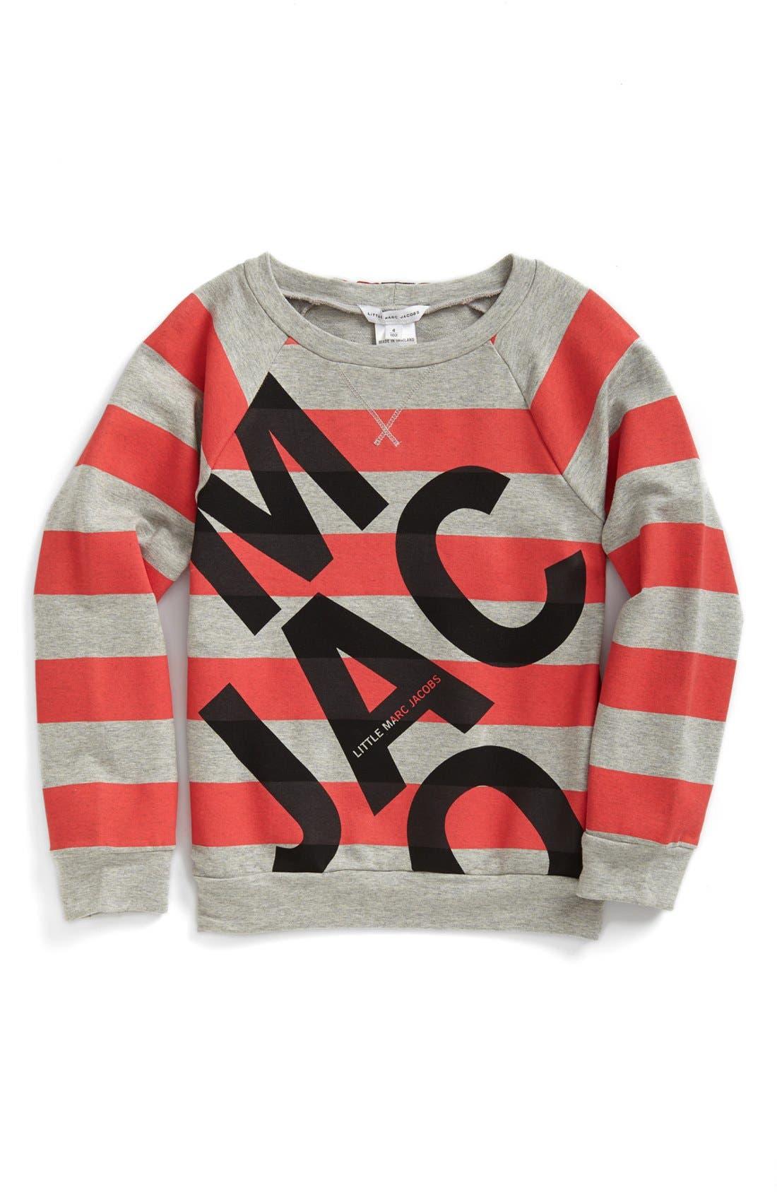 Alternate Image 1 Selected - LITTLE MARC JACOBS 'Block Letter' Sweatshirt (Toddler Girls)