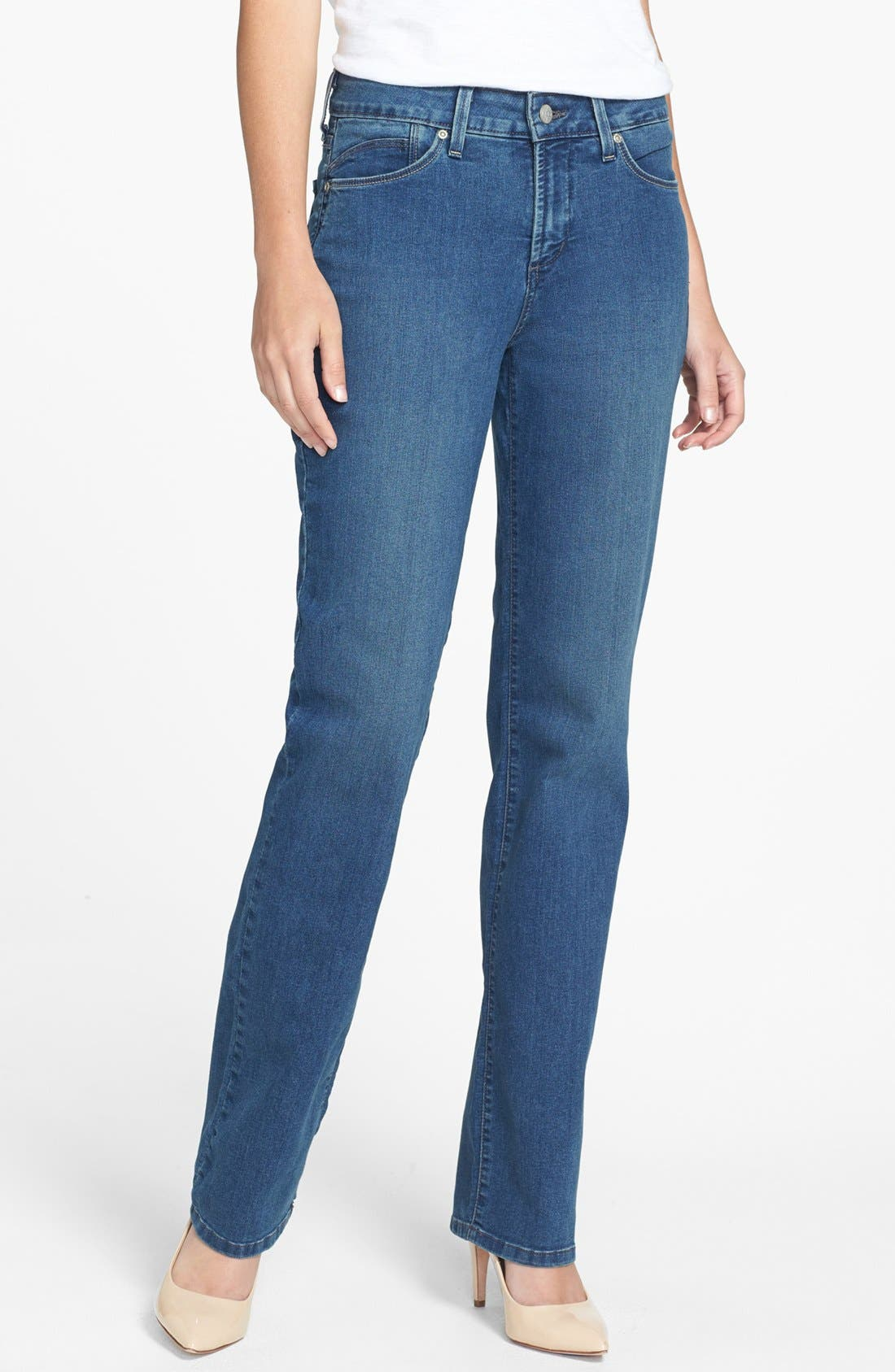 Main Image - NYDJ 'Marilyn' Stretch Straight Leg Jeans (Regular & Petite)