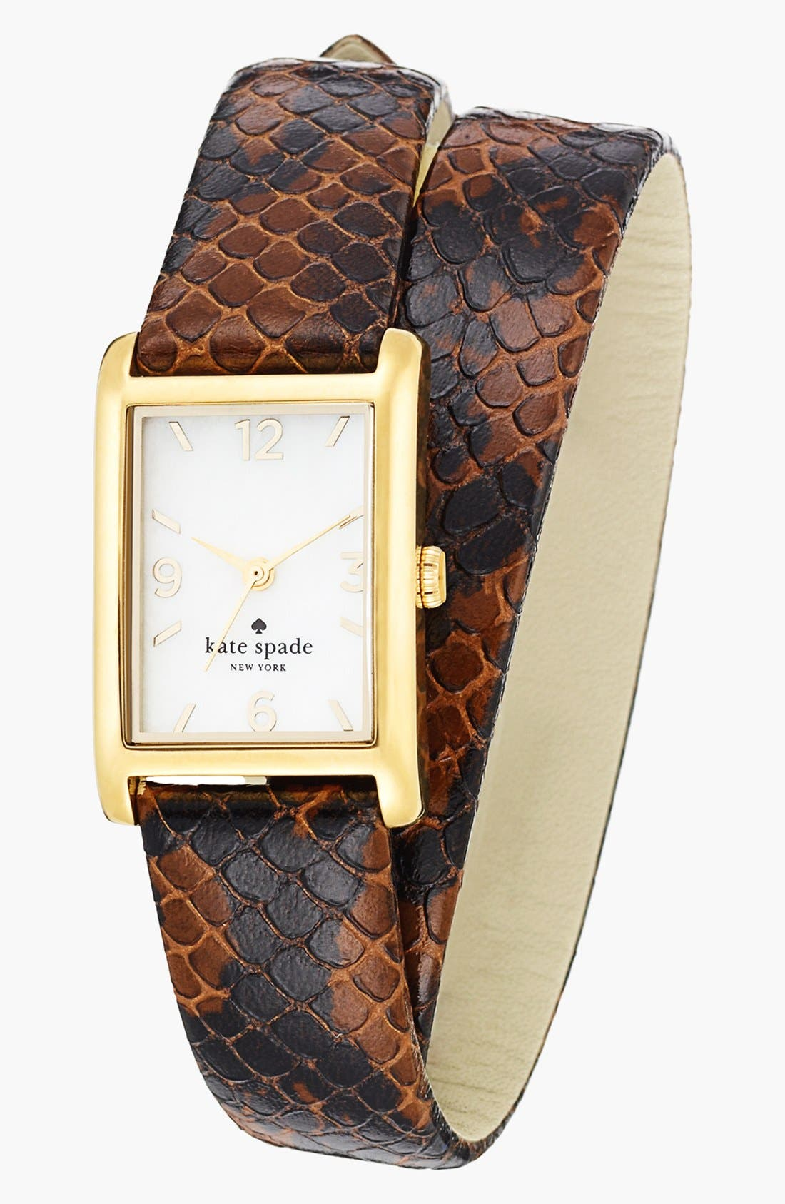 Main Image - kate spade new york 'cooper' double wrap watch, 21mm x 32mm