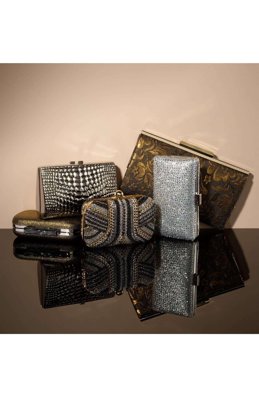 Alternate Image 5  - Tasha Textured Sparkle Clutch