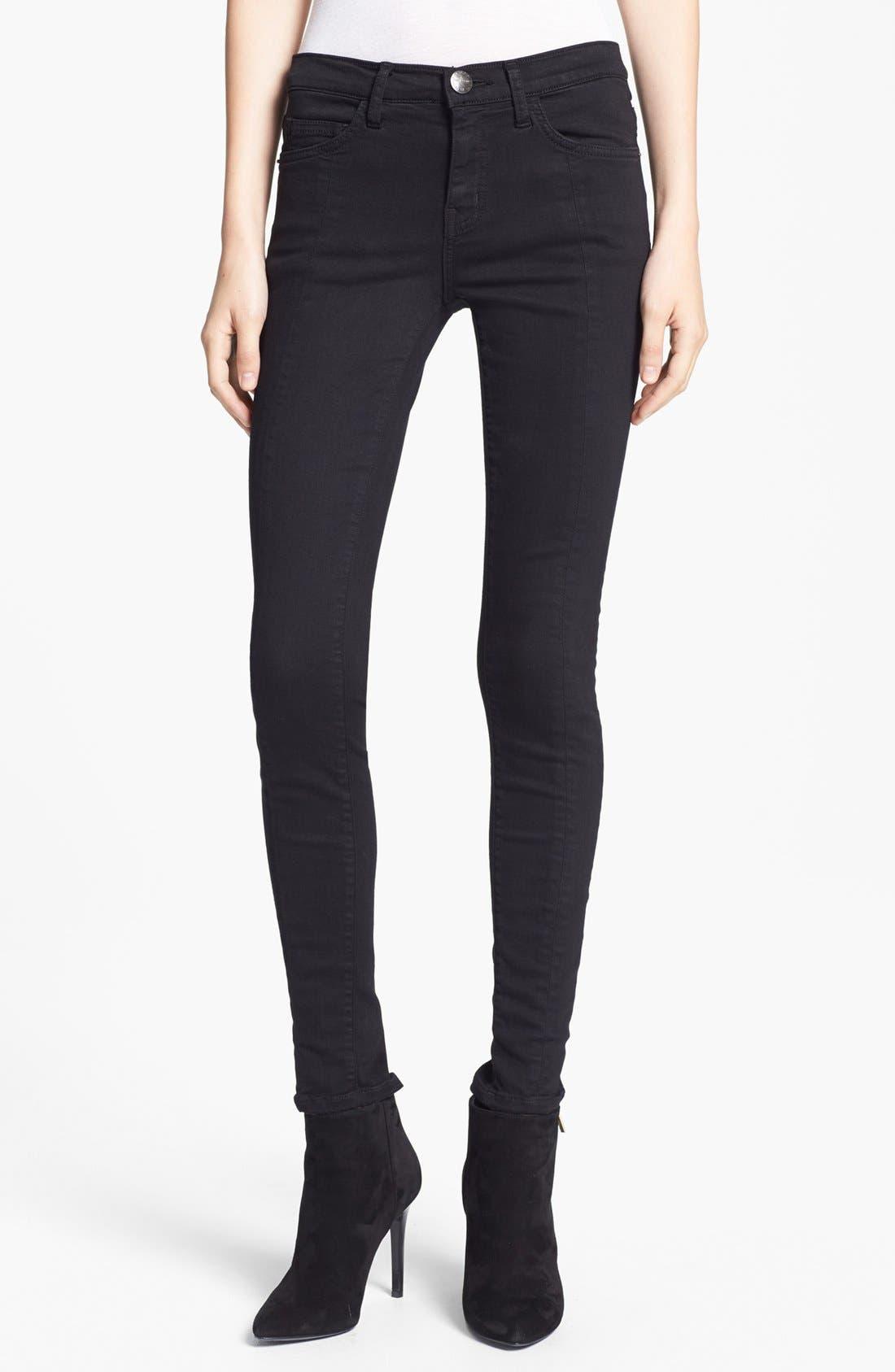 Main Image - Current/Elliott 'The Ankle Seamstress' Skinny Jeans (Jet Black)
