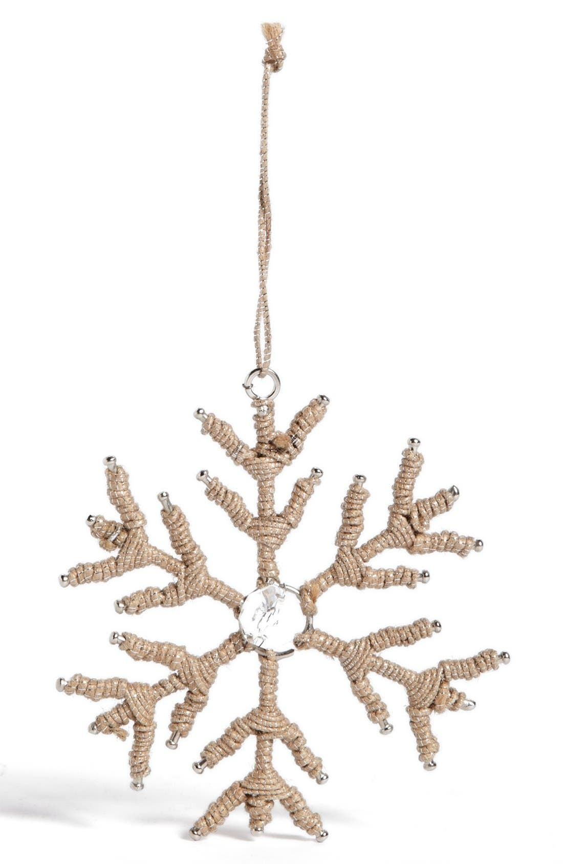 Alternate Image 1 Selected - Sage & Co. Jute Snowflake Ornament