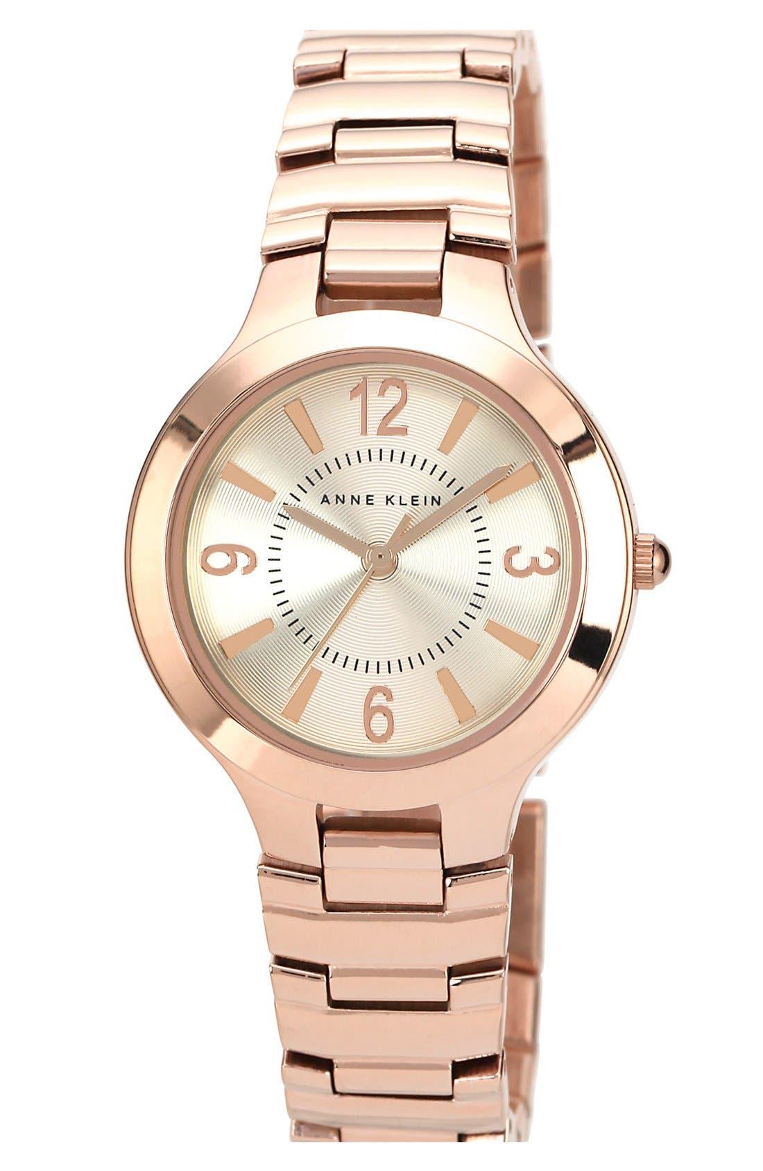 Alternate Image 1 Selected - Anne Klein Round Bracelet Watch, 32mm